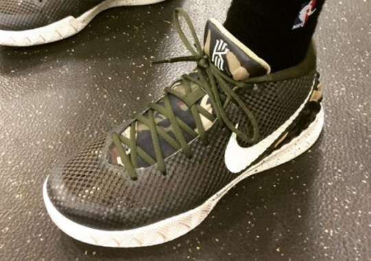 """Kyrie Irving Honors Military With Nike Kyrie 1 """"Camo"""""""