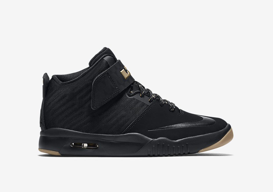 a551c4579a08f LeBron James  Nike Air Akronite Releases In Black   Gold ...