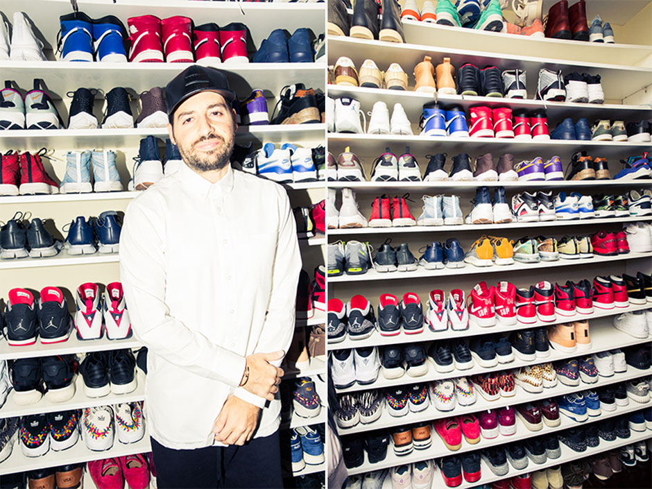 A look inside ronnie fieg 39 s sneaker closet for Schuhschrank jordan design