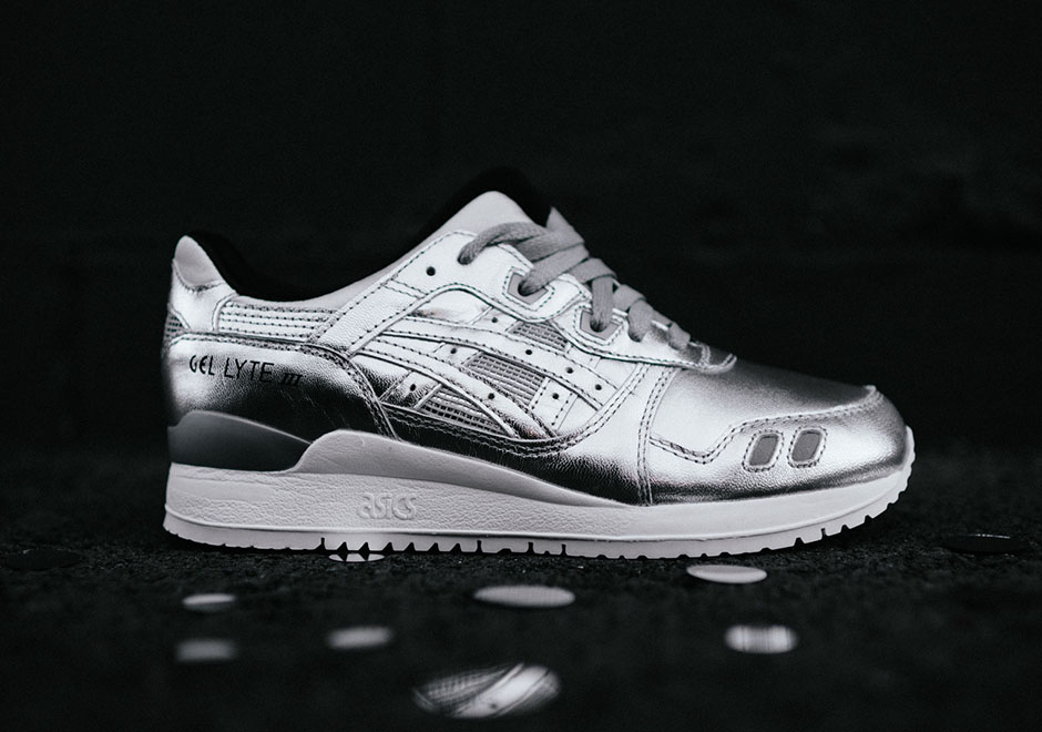 asics sneakers metallic