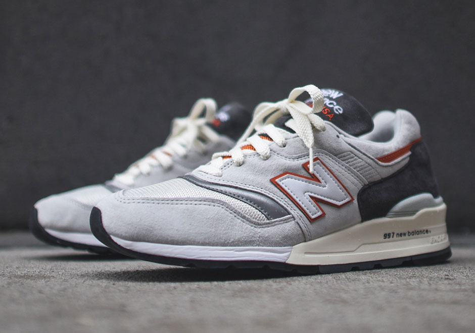 newest 384be 46c2f New Balance 997 In Grey And Orange - SneakerNews.com