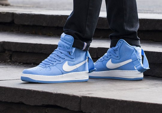 "Nike Air Force 1 High QS ""University Blue"" Releases This Weekend"