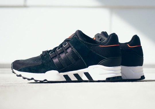 The adidas EQT Running Support In Black And Red