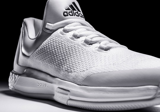 "There's an Extremely Limited Release of James Harden's ""Triple White"" adidas Crazylight Boost"