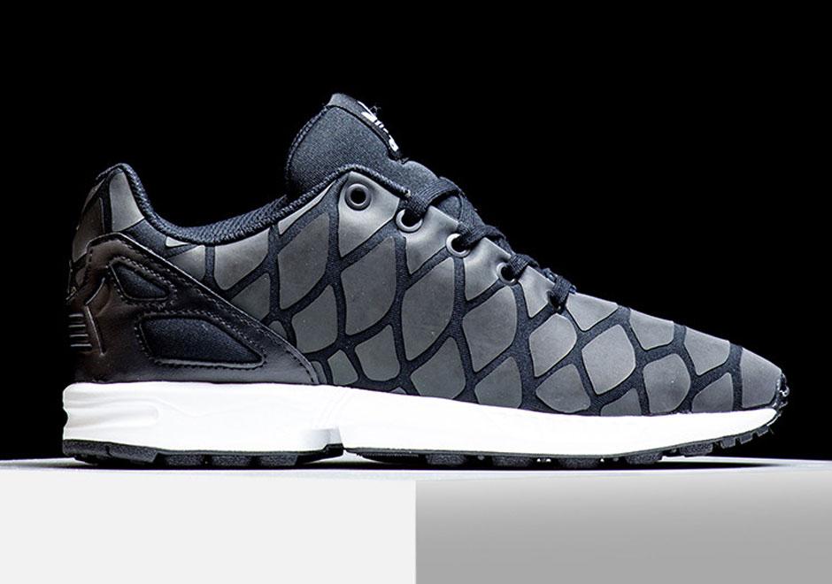 Details zu adidas Originals ZX Flux Xeno Reflective Sneaker Schuhe S78649 Schwarz