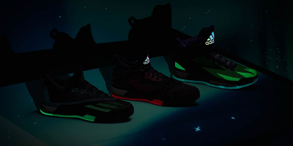 pretty nice 9c4cd b36a9 ... and adidas D Rose 6 Boost (each also feature the woven upper and a glow  in the dark finish). The adidas Hoops Aurora Borealis Collection will  launch ...