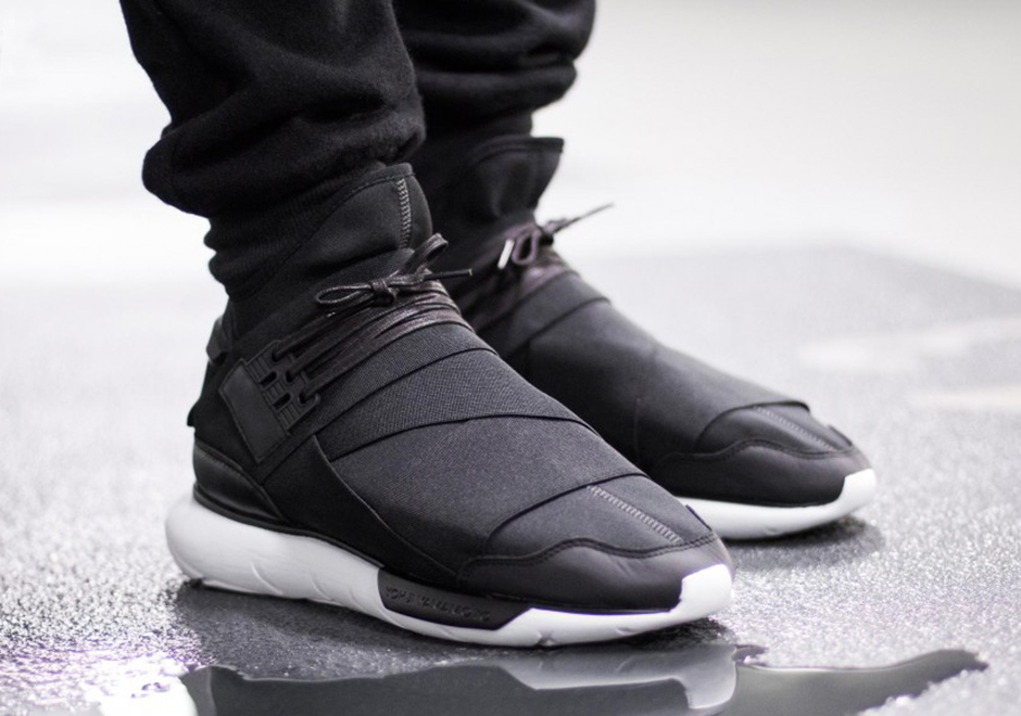 5744529ff More December Heat  The adidas Y-3 Qasa High In Black White -  SneakerNews.com