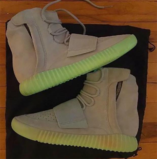 on sale 66a71 ad2b2 Cheap Adidas Yeezy 350 V2 Black Green Glow Kanye West Mens ...