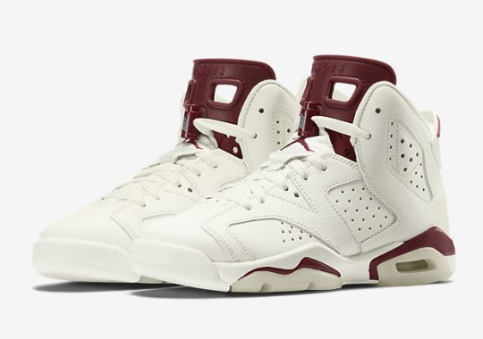 "Remember, The Air Jordan 6 ""Maroon"" Releases In Kids Sizes Too"