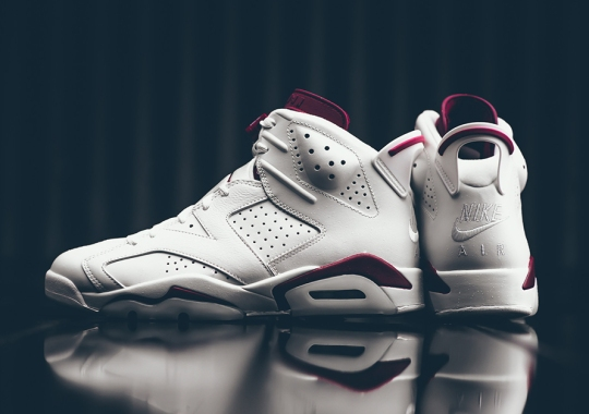 "Nike Air On The Air Jordan 6 ""Maroon"" Makes For The Perfect Holiday Release"