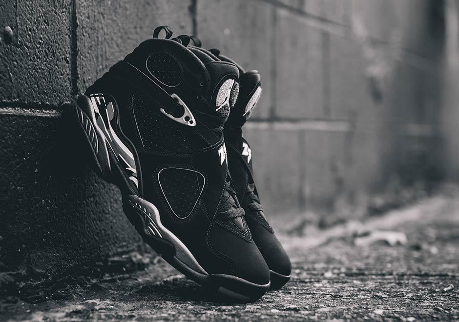 """af852ac3f59b43 The Air Jordan 8 """"Chrome"""" Is Jordan Brand s Answer To The Yeezy 750 Boost  """"Blackout"""""""