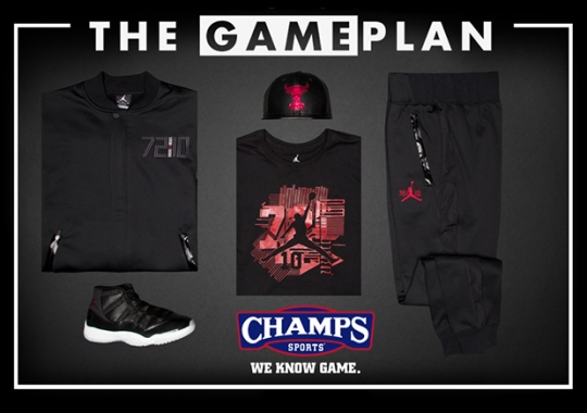 "Celebrate The Greatest NBA Season Of All-Time With The Jordan ""72-10"" Collection By Champs Sports"