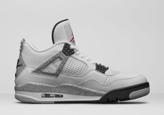 "Jordan Brand Unveils The Air Jordan 4 ""White/Cement"" With Nike Air"