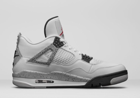 "Jordan Brand Unveils The Air Jordan 4 ""White/Cement"" With Nike Air"