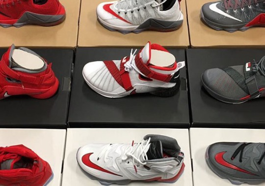 9f8908fe3b4c3 Nike LeBron 12 Low. LeBron James Just Hooked Up The Entire Ohio State Team  With New PEs
