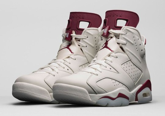 "December's Jordan Releases Kick Off With The Air Jordan 6 ""Maroon"""
