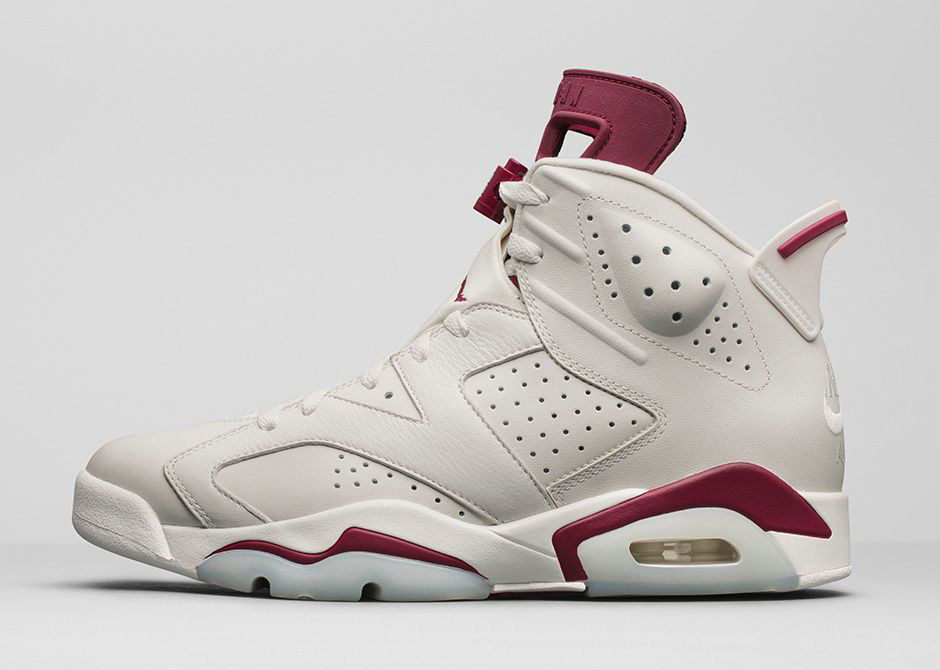 Womens Nike Air Jordan 6 Maroon Basketball Shoes