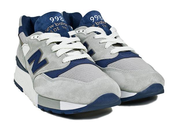 Nuovo Equilibrio 998 Made In Usa Grigio / Blu D5M9y