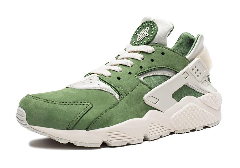 nike huarache green white
