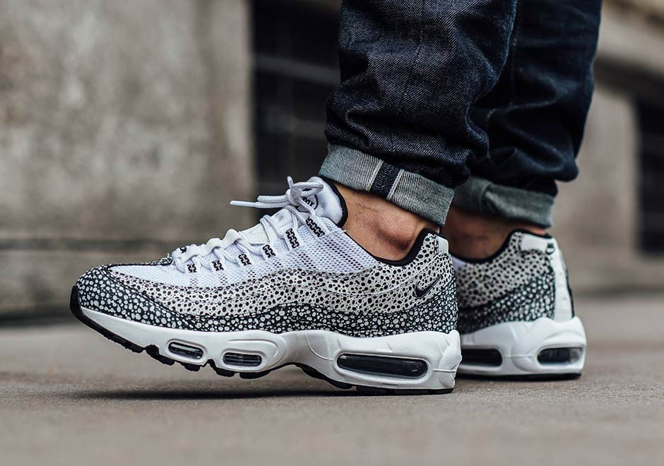 nike dames air max 95 premium safari wit