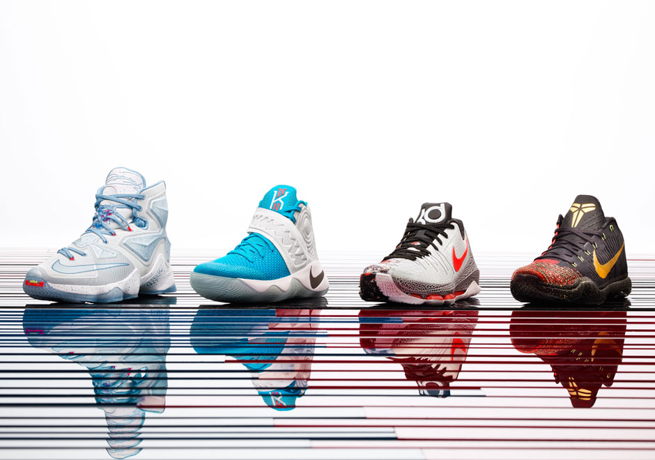 "best authentic e8c12 6adf7 Four Distinct Themes Of ""Fire And Ice"" On Nike Basketball s 2015 Christmas  Collection"