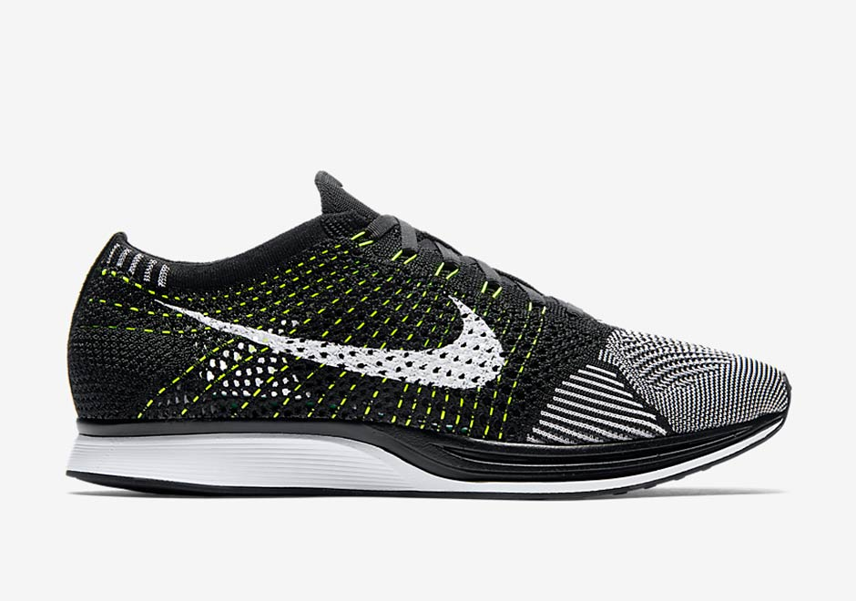 Perfect Price Nike Nike Flyknit Racer Black/White-White for Men