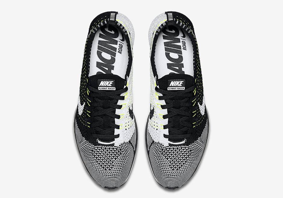 Nike Flyknit Racer Svart Hvit Volt Kjøpe Og Selge jUwMluj