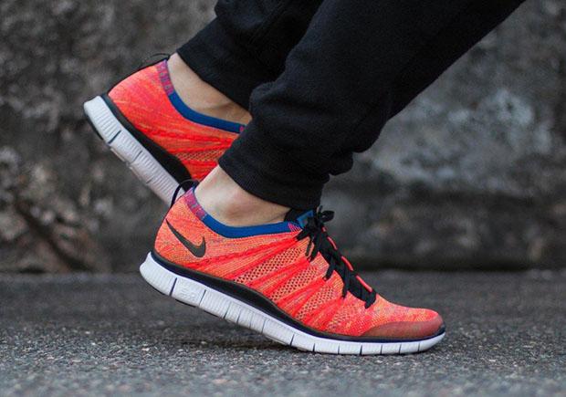 "new style 9e495 17a86 Nike Free Flyknit NSW ""Bright Crimson"""