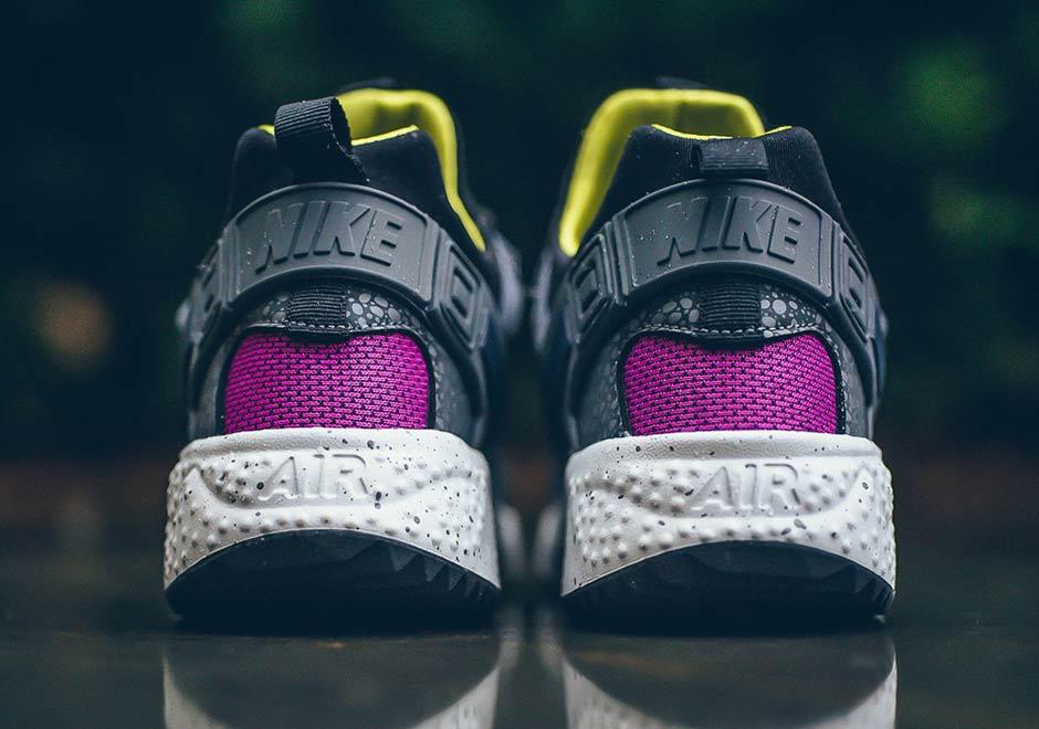 Nike Huarache Aria Run Prm Nero / Scuro Cactus Grigio-bianco 7qAppw57