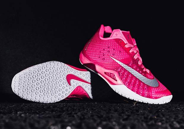 "newest 83b3b 375fc Nike HyperLive ""Think Pink"". Color  Hyper Pink Black-Metallic Silver"