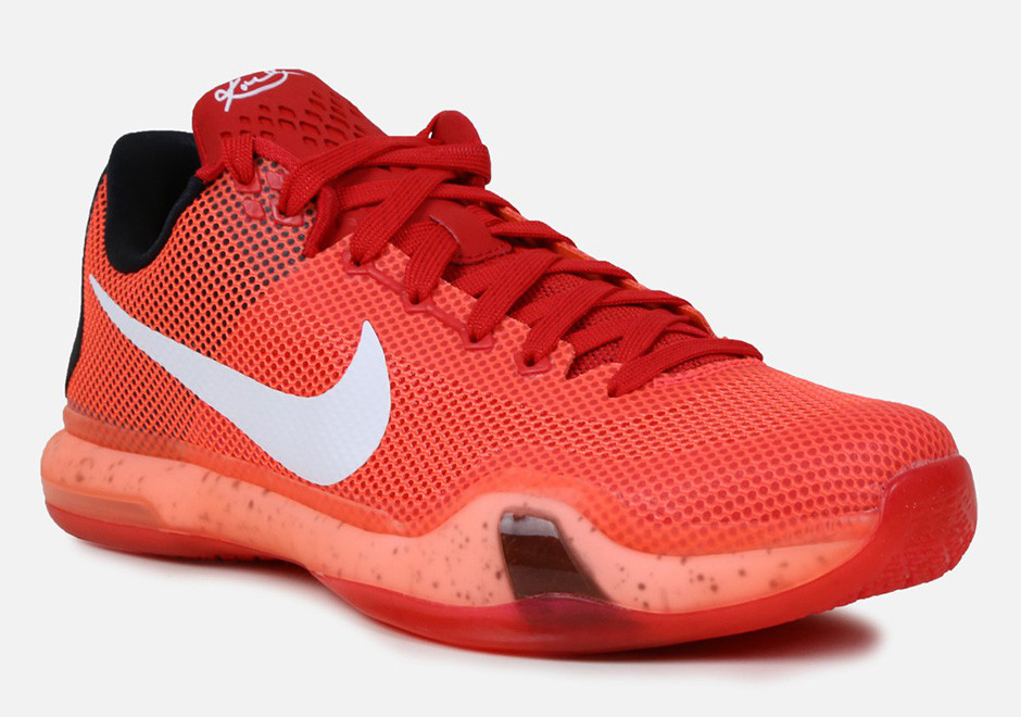 check out b73d4 f2a5a Nike Kobe 10. Color  University Red Bright Crimson-Hyper Orange-White Style  Code  705317-616. Release Date  12 9 2015. Price   180