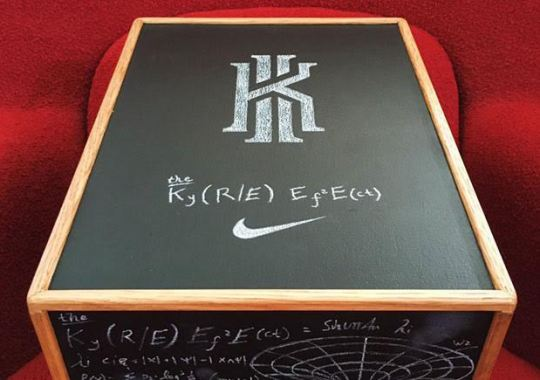 "You Won't Believe Who Got His Hands On This Awesome Nike Kyrie 2 ""Chalkboard"" Box"