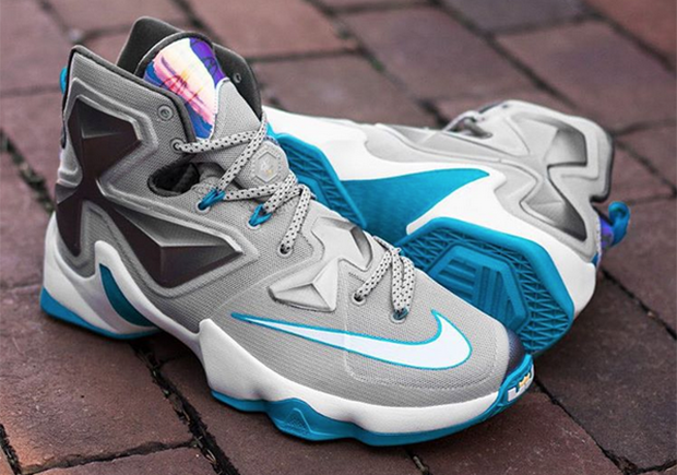 "LeBron s thirteenth signature shoe marches on with its early-season  releases. Next up  the ""Blue Lagoon"" colorway. We actually already got an  on-court ... fd1f3d812"