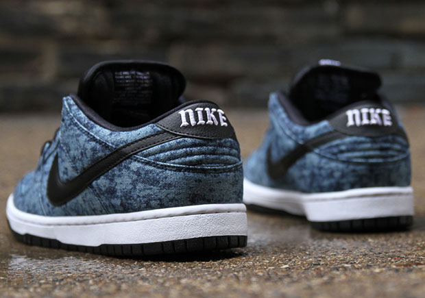 ce6e39f23339 The Nike SB Dunk Goes Rock N  Roll With a Denim Jacket Upper ...
