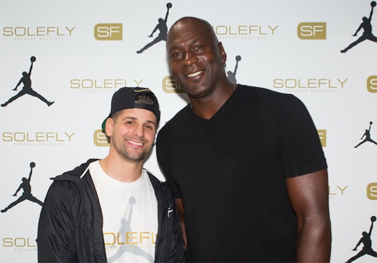 Michael Jordan Made An Appearance At The Grand Opening Of SoleFly's New Store