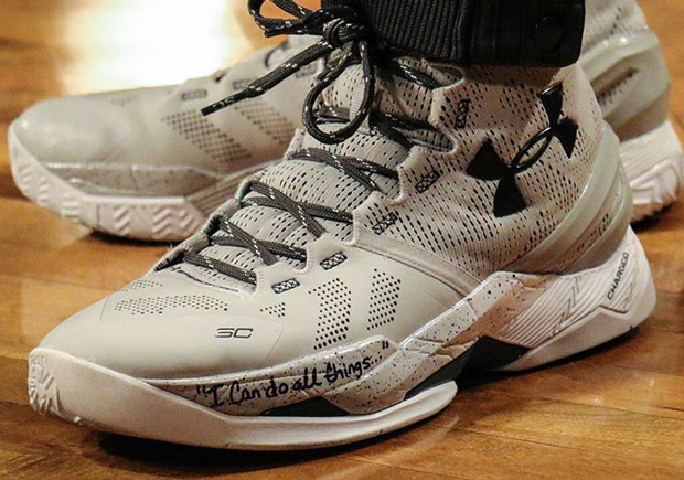 """competitive price 5fd43 76745 Steph Curry Broke Out A """"Cool Grey"""" Curry Two PE"""