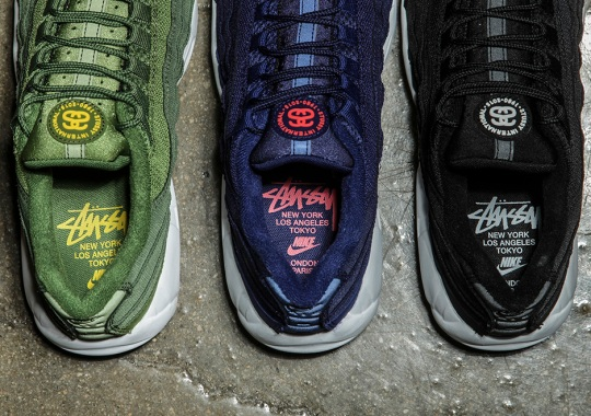 A Detailed Look At The Stussy x Nike Air Max 95 Collection