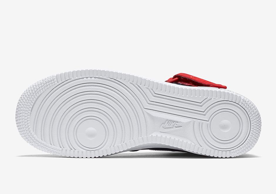 Nike Air Force 1 Mediados Blanco Rojo Y Azul T8mO5dokXv