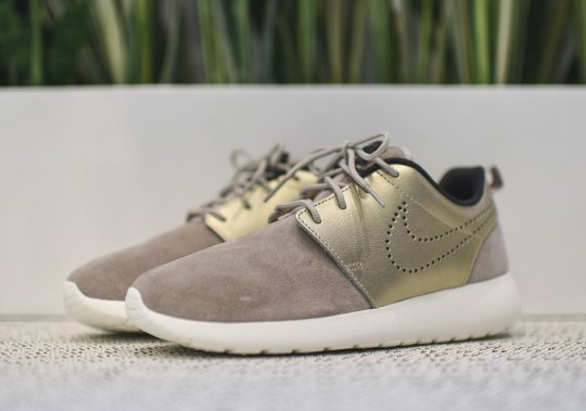 Gold Uppers Give The Nike Roshe Run A Premium Look