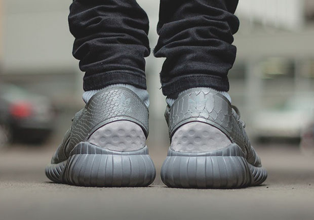 ed70318f636d1 Reflective Silver Snakeskin Matches Up With The adidas Tubular Doom ...
