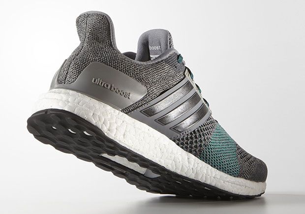 8d59a981d8c The Ultra Boost ST is available now in this clean grey and green Primeknit  colorway now at adidas.com and select adidas Running retailers.