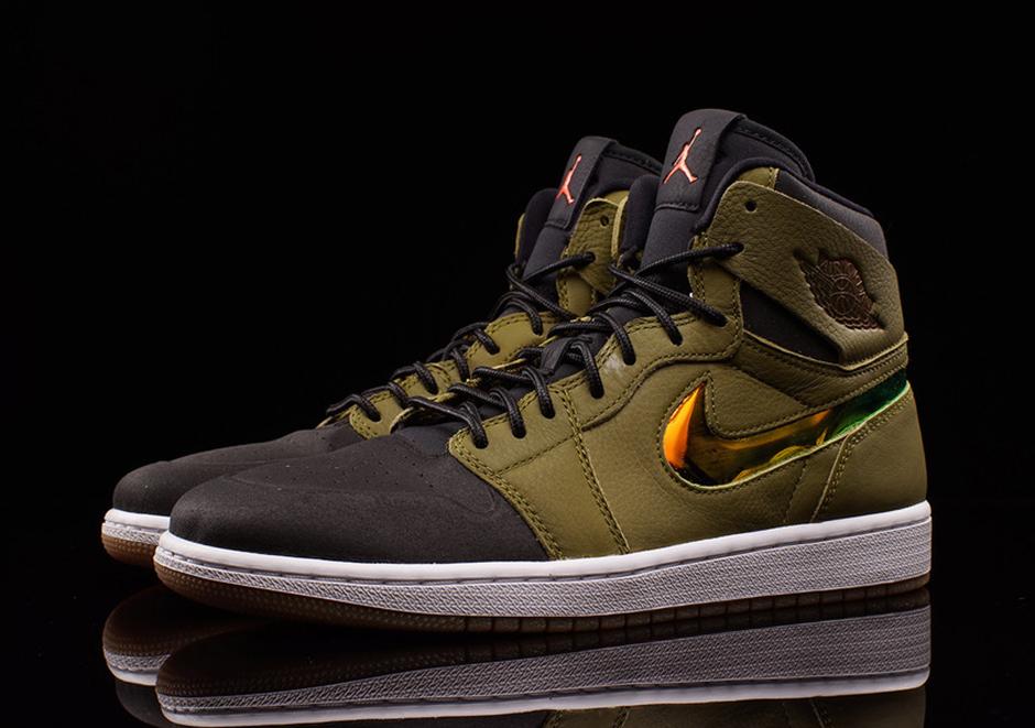 "7212fd77e138 Air Jordan 1 High Nouveau ""Militia Green"". Color  Militia Green Hyper  Orange-Black-White Style Code  819176-306. Price   150"