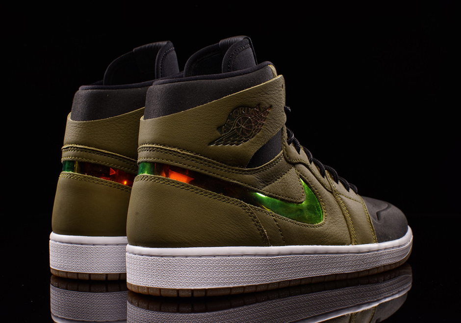 "the latest 1c237 ea60b ... retro high nouveau olive orange 150 sizes 7.5 Air Jordan 1 High Nouveau  ""Militia Green"" womens ..."