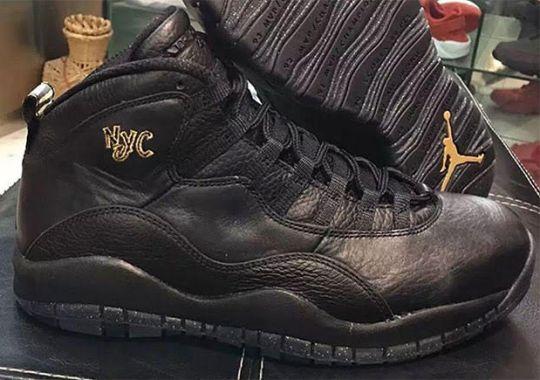 """First Look At The Air Jordan 10 """"NYC"""""""