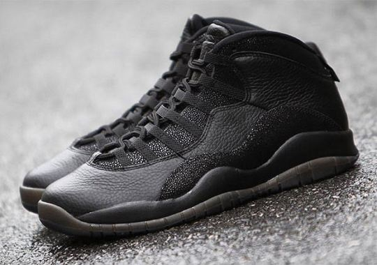 "The Air Jordan 10 ""OVO"" Is Back In Black"