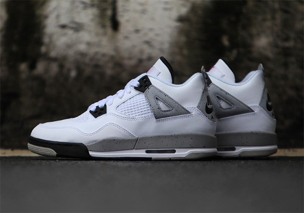 """First Look At The Air Jordan 4 """"White Cement"""" With Nike Air For 4d64aa9316"""