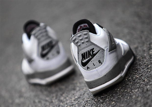 Air Jordan Ciment Blanc 4 Enfants 2016