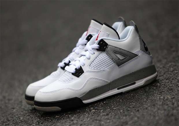 Air Jordan 4 OG White Cement Color WhiteFire RedBlackTech Grey Style  Code 840606192 Release Date February 13th 2016 Price 220