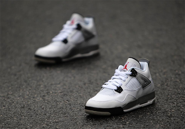 Air Jordan Retro 4 Cemento Bianco Prezzo Gs GzJhHy3