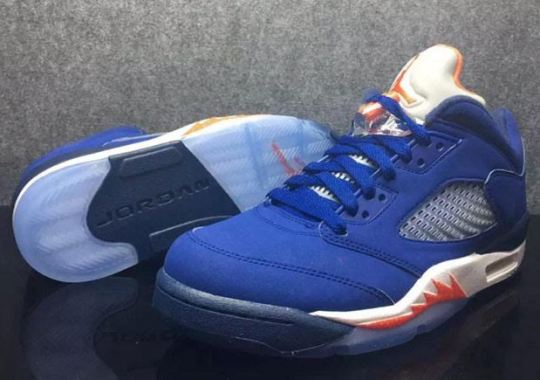 a1618d9a1e50 Knicks Orange And Blue On This Upcoming Air Jordan 5 Low